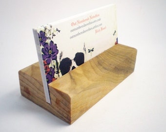 Wooden Business Card Holder - Poplar - Hand Shaped - 16th