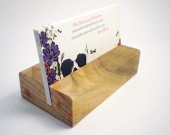 Wooden Business Card Holder - Poplar - Hand Shaped - 16th