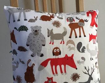 Woodland friends decorative cushion cover