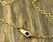 Valentine SALE - 18 Inch 14k Gold Fill Necklace with 14k Gold Fill Lobster Clasp