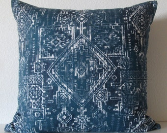 Pillow Cover Boho chic - tribal - sioux - Navy blue