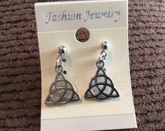 Celtic trinity knot earrings