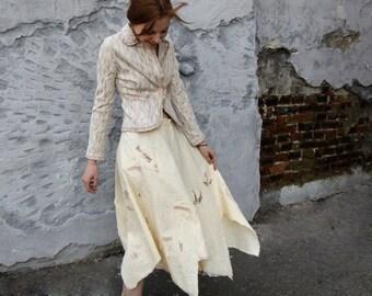 Hand felted skirt - Tenderness