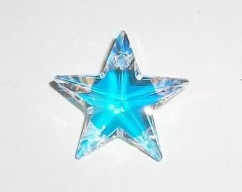1xSwarovski® light Sapphire 28mm Star ref 6714 Pendant