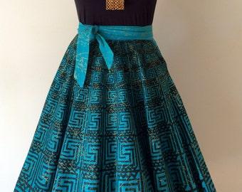 1950s Maya de Mexico Circle Skirt Sz S