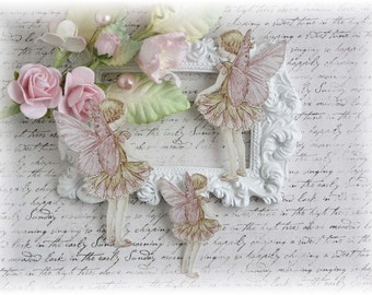 Spring Fairy Die Cut Embellishments  for Scrapbooking, Cardmaking, Mixed Media, Altered Art