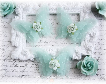 Shabby Vellum Butterfly Embellishments for Scrapbooking, Cardmaking, Altered Art, Tag Art, Mini Album, Mint