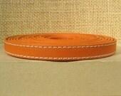 Regaliz 10mm Flat Goat Leather - Orange - Choose Your Length
