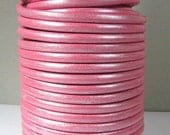 25% OFF Metallic Pink European 5mm Round Leather - Choose Your Length