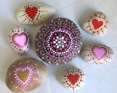 Valentine's Day Mandala Dotty Rock with Bonus