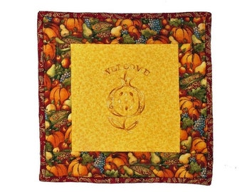 On Sale Pomegranate Welcome Mat or Wall Hanging for Fall, but Especially Jewish Fall Hoilidays