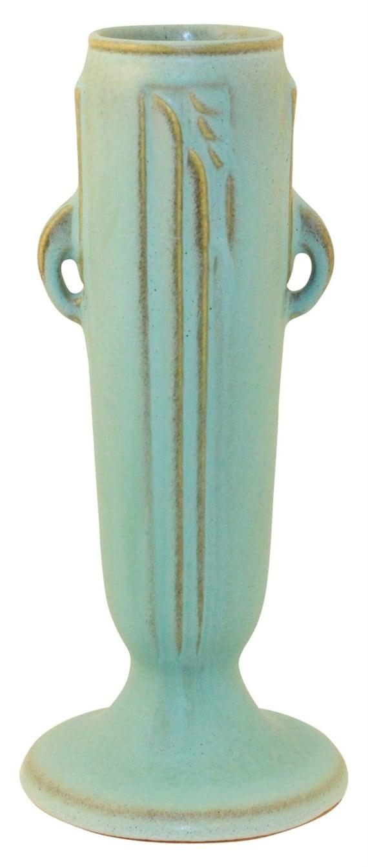 Roseville Pottery Moderne Green Vase 790-7