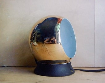Vintage Globe Light by Artilux Sweden 1970s 1960s Mod in Gold Wall Reading Light.