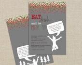 Christmas Party Invitation - Buddy the Elf, Ugly Sweater, Christmas Costume (digital printable)
