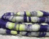 spinning fiber- art rolags- BLF and merino