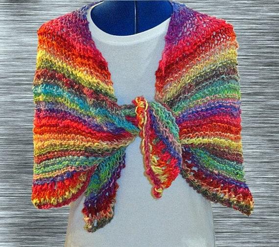 Easy Knit Wrap Pattern : Knit Shawl Pattern Easy Knitting Pattern Easy to Knit Prayer