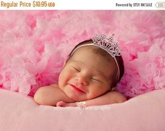 Pink Tiara Headband, Baby Headband, Baby Tiara, Princess Headband, Pink Crown, Photo Prop, Birthday Crown, Newborn Child Girls Headband