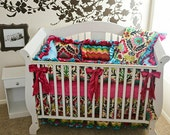Santa Maria Fancy Floral Damask Crib Bedding SWATCH SET, Make sure fabrics are exactly what you want before you order!
