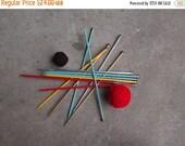 SALE SALE SALE Vintage Knitting Needles Destash Lot Six Pairs Aluminum Plastic Size 10 101/2 Supplies