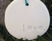 Porcelain Love Gift Tag/Ornament
