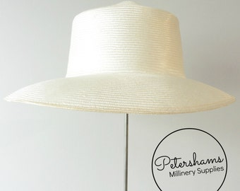 Natural Pre-Blocked Parasisal Hat Body for Millinery & Hat Making - Downturned Brim