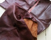 Burgundy Leather Scraps