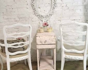 Painted Cottage Chic Shabby French Dining Kitchen Mix and Match Chairs CHR135
