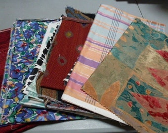Lot of fabric pieces for quilting, wallhangings, pillows (lot #2)