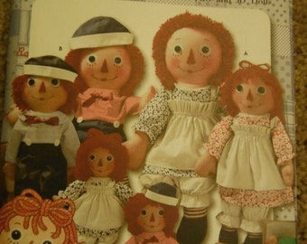 Raggedy Ann & Andy Dolls n more UNCUT Pattern--1 40-70% off CLEARANCE SALE
