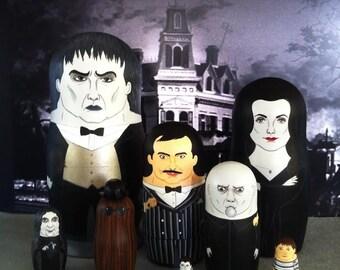 Addams Family Mega (set of 8) Matryosha Dolls