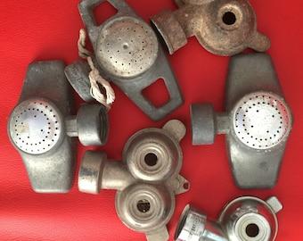 Sprinklers GARDEN Decor Vintage Lot of 6 SPRINKLERS Old lawn Garden Sprinklers Rain Bird Sprinkler Industrial galvanized