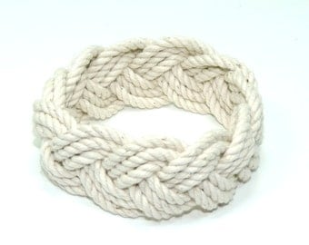 Classic White Rope Bracelet Shrink to Fit