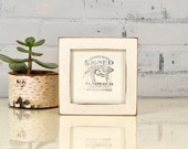 5x5 inch Square Picture Frame in 1x1 Flat Style with Vintage White Finish - IN STOCK - Same Day Shipping - 5 x 5 Photo Frame White Rustic