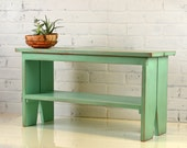 Wooden Bench in Color of Your Choice - Indoor Cottage Seating Schoolhouse Wood Bench Seat - Handmade Bench
