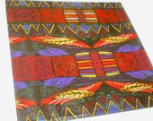 Vintage KWANZAA HOLIDAY Gift Wrap / Wrapping Paper - 1980s - RARE
