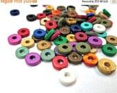 ON SALE Multicolor mix of rondelle greek ceramic beads- set of 50