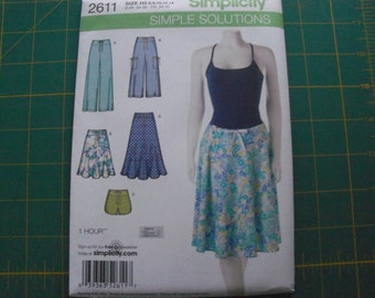 Simplicity 2611 Misses Pants Shorts & Skirts Sizes 6-14 sewing pattern