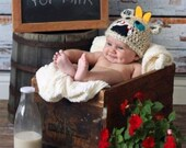 Patchwork Cow Hat ALL sizes from Newborn  to Adult