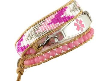 Essence Beaded Wrap Medical ID Bracelet