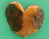 HEART of the HOME Wall Decor Carved in Tropical Almond Wood
