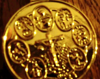 7 AFRICAN POWERS GOLD Plated Coin