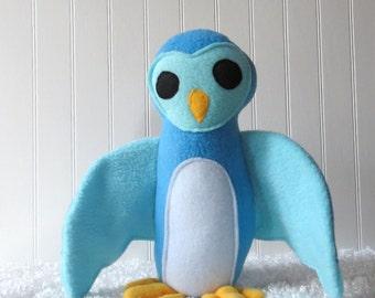 Blue Owl, Plush Owl, Toy Owl