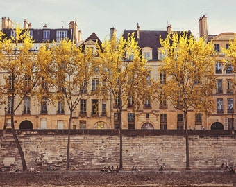 "Paris Photography // Paris Prints // Paris Architecture // French Decor for a modern home // Large Print  - ""Parisians on the Seine"""""
