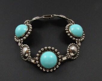 Faux Turquoise Bracelet, Southwestern Bracelet, Boho Bracelet