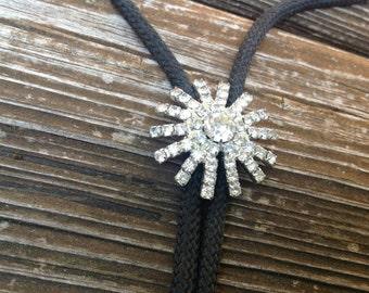 Vintage Bolo ~ Bolo Necklace  ~ Lariet ~ Rhinestone  Necklace ~ Hot Vintage Fall Items ~ Ladies Vintage Acessories ~ Neck Scarf ~ Bolo Ties