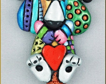 Hand Sculpted Hound Dog Doodle Necklace by Critter Craft Kristy Zgoda!