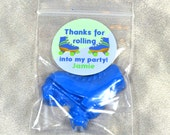 Roller Skate Party Favors Crayons, Boy Roller Skate Stickers, Recycled Crayons, Total of 25 Crayons and 25 Sticker. Boy Party Favors.