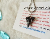 Unisex Shark Tooth Necklace bull shark on silver by beach candies