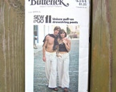 Butterick Pattern 4344 Sew & Go Unisex Drawstring Pants Size Small