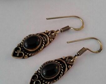Black Onxy Earrings